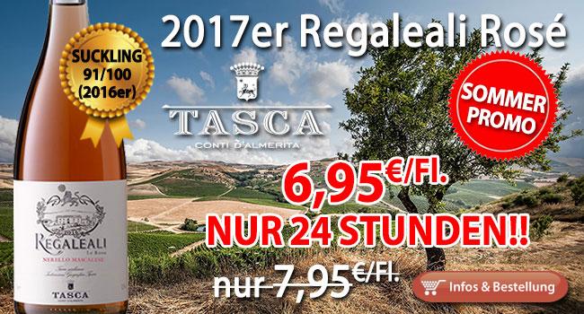 24 Stunden Sommer Promotion V: 2017er Regaleali Rosé nur 6,95€