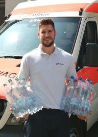 In der Sommerhitze: Wasser für Wohnungslose