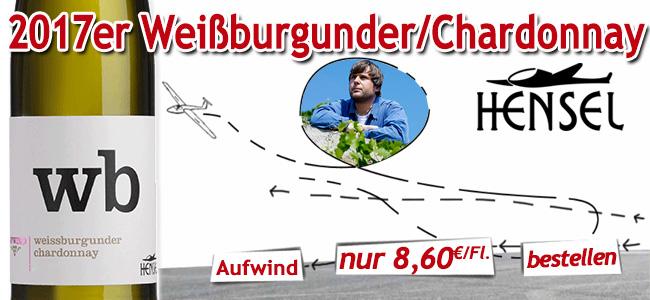 Genial 2017er Weissburgunder Chardonnay von Thomas Hensel!