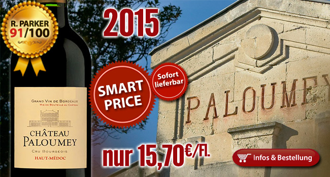 Sofort lieferbar: 2015er Château Paloumey 91/100 Punkte