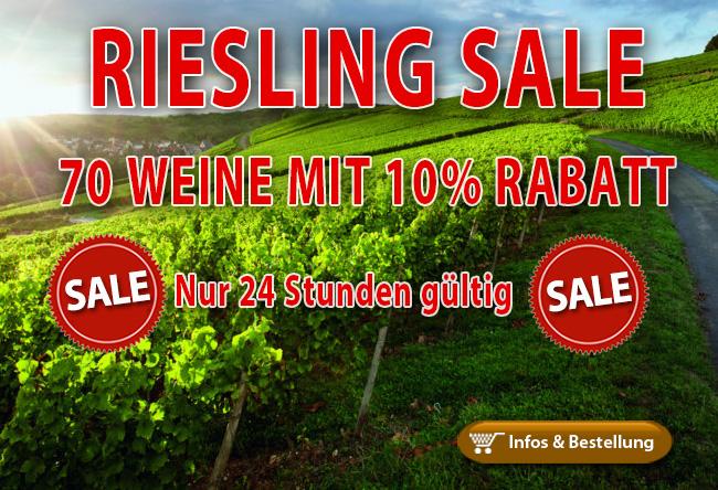 Riesling Montag…10% Rabatt nur 24 Stunden