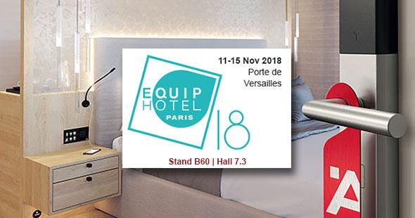 Salon Equip'Hotel à Paris, les nouveaux produits de la gamme Hôtel