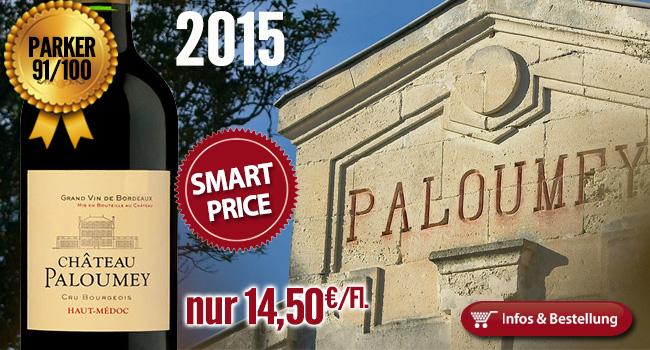 SMART-BUY: 2015er Château Paloumey 91/100 Punkte nur 14,50€/Fl.