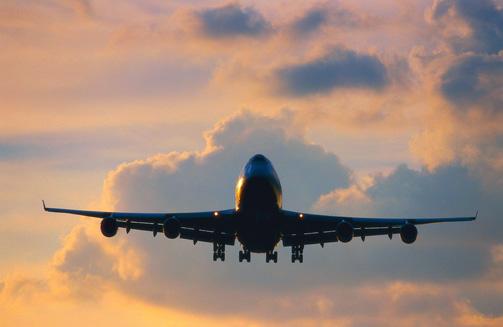 a passenger aircraft flying