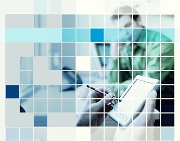 Woman using personal digital assistant in meeting, digital composite