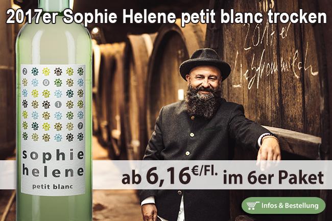 """""""Aromatisch - knackig - trocken"""" - 2017er Sophie Helene Petit Blanc - Hammel"""