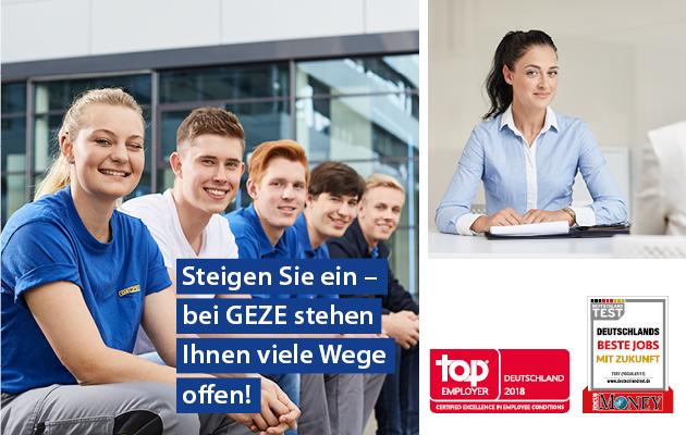 GEZE employer award klein