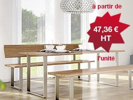 Piètement design table & banc à prix promo