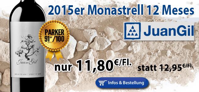 """Parker: """"Bravo for the change…"""" 2015er Juan Gil Monastrell Silver Label nur 11,80 statt 12,95€"""