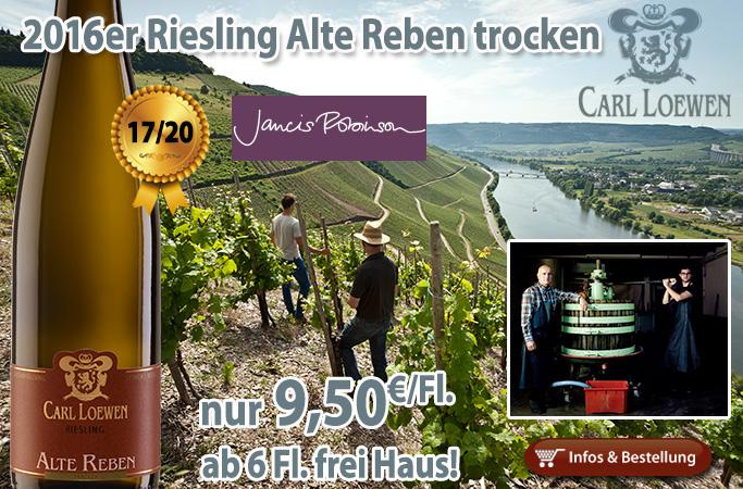 2016er Riesling Alte Reben – Carl Loewen Mosel: 17/20 Jancis Robinson