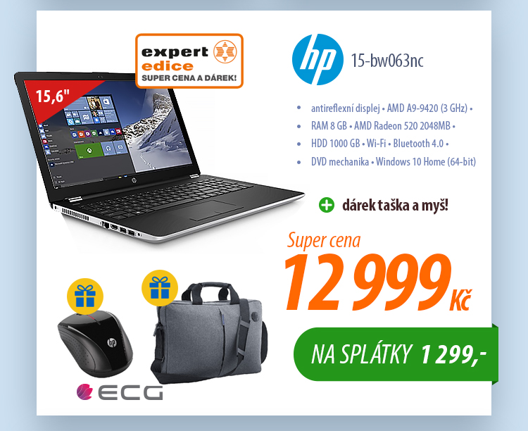 Notebook HP 15-bw063nc 2WF71EA