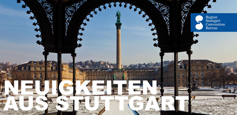 Stuttgarter Schlossplatz im Winter
