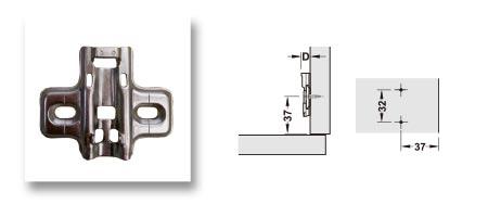 Embase Metalla, réglage par trou oblong