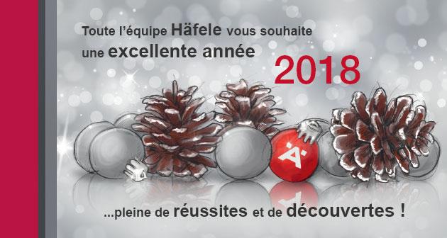 Nous vous souhaitons une excellente année 2018 et vous invitons à découvrir nos nombreuses nouveautés