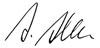 Unterschrift Andrea Alexandra Alber