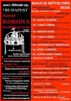 Magyar Műveltség szak - plakát