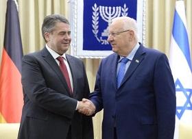Bundesaußenminister Gabriel und Staatspräsident Rivlin (Foto: Mark Neiman/GPO)