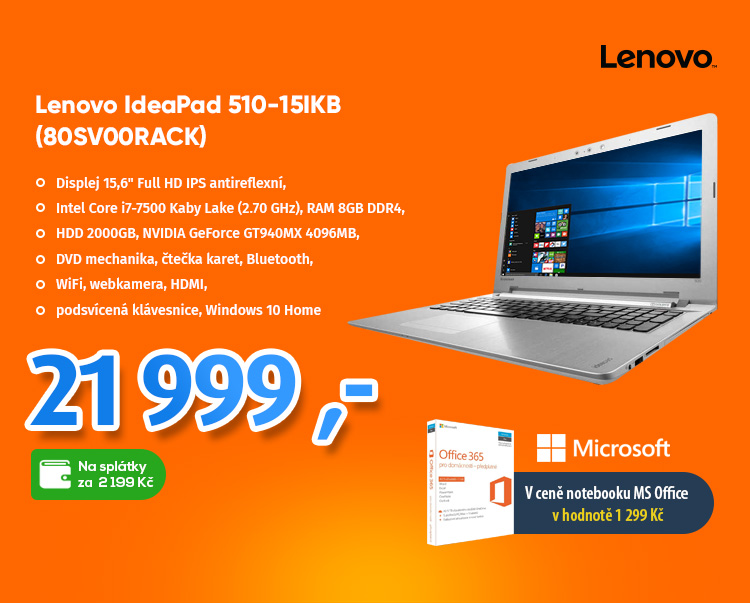 Notebook Lenovo IdeaPad 510-15IKB