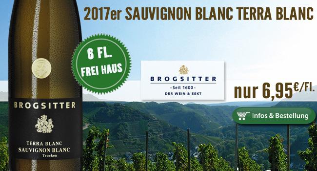 2017er Sauvignon Blanc Terra Blanc – Brogsitter nur 6,95€/Fl.