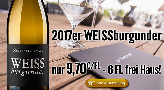 Gradlinig, vital mit Zug: 2017er Weissburgunder – Markus Schneider!