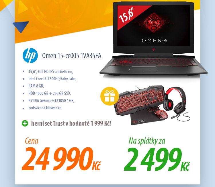 Notebook HP Omen 15-ce005 1VA35EA