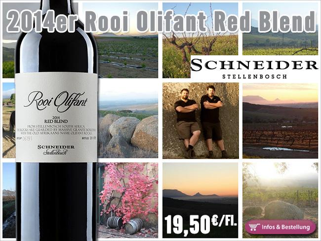 2014er Rooi Olifant Red Blend - Schneider Stellenbosch