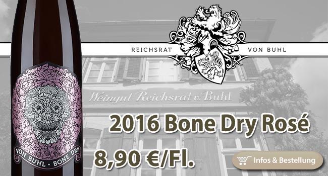 Knochentrocken: Bone Dry Spätburgunder Rosé – Reichsrat von Buhl Pfalz
