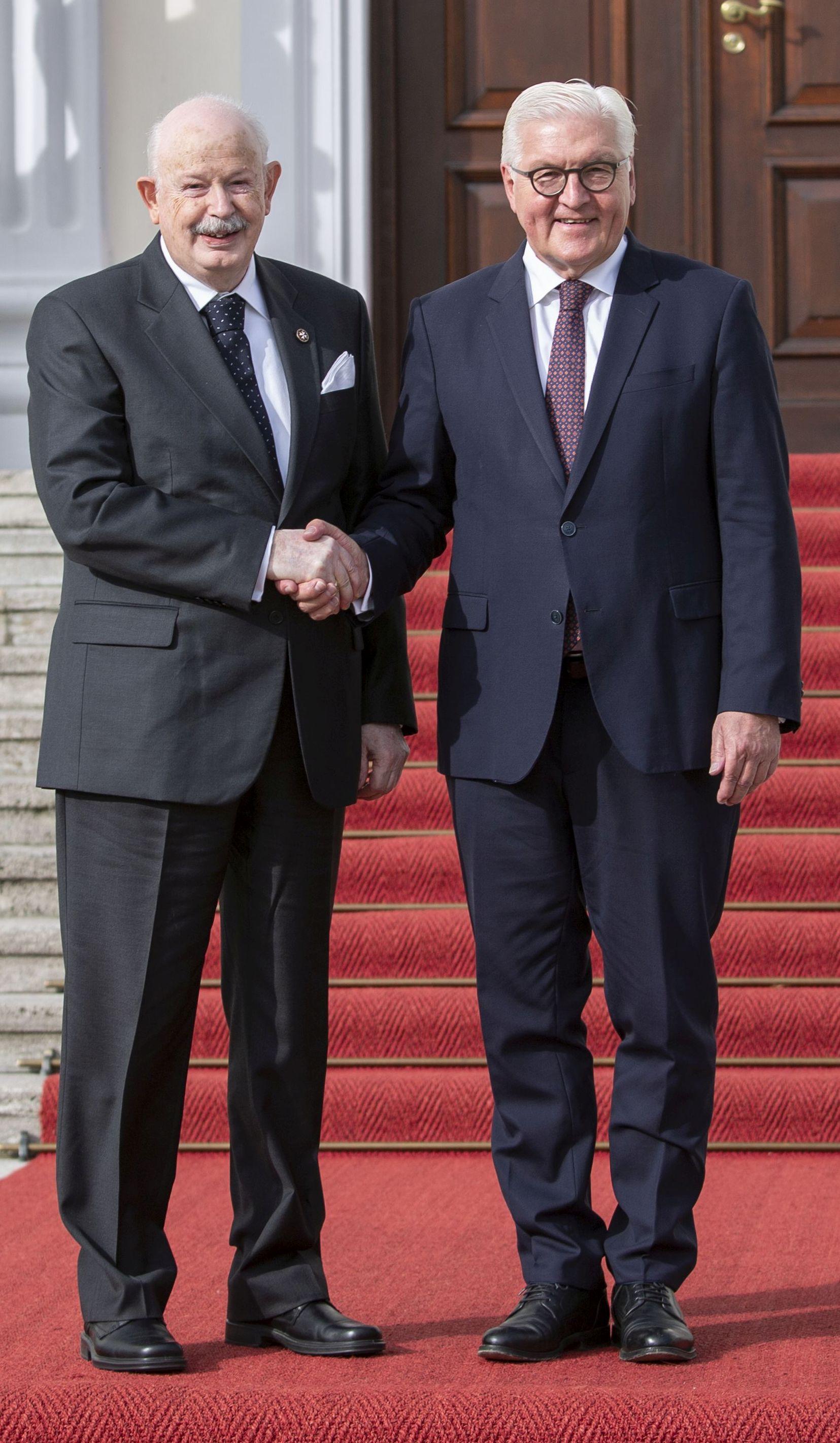 Der Bundespräsident empfing den Großmeister auf Schloss Bellevue
