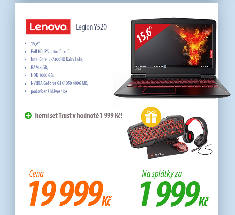 Notebook Lenovo Legion Y520